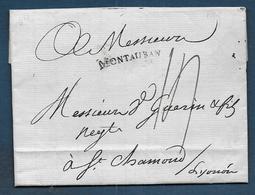 Marque MONTAUBAN  Sur Lettre De 1789 Pour St Chamond - 1701-1800: Vorläufer XVIII