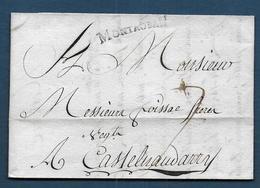 Marque MONTAUBAN  Sur Lettre De 1780 Pour Castelnaudarry - Marcophilie (Lettres)