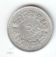 FRANCE -  5 FRANCS 1949  TYPE LAVRILLIER - France