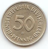 ALLEMAGNE -  50 PFENNIG  1950 - LETTRE D - [ 6] 1949-1990 : RDA - Rép. Démo. Allemande