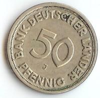 ALLEMAGNE -  50 PFENNIG  1949 - LETTRE G - 50 Pfennig