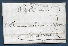 Marque MONTAUBAN  Sur Lettre De 1769 Pour Lombez - Marcophilie (Lettres)