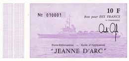 Billet Fictif -  Bon Pour 10 Fr  Porte  Helicoptere  - Jeanne D'arc - Neuf - Specimen
