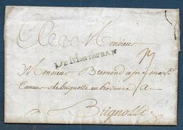 Marque DE MONTAUBAN  Sur Lettre De 1751 Pour Brignolles - Marcophilie (Lettres)