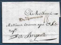 Marque DE MONTAUBAN  Sur Lettre De 1764 Pour Brignolle - Marcophilie (Lettres)