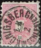 Autriche - 1883 - Y&T 42 - MI 46, Oblitéré Königsberg - Oblitérés