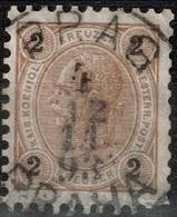Autriche - 1890 - Y&T 47 - MI 51, Oblitéré Prag - Praha - Oblitérés