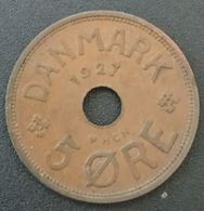 DANEMARK - DENMARK - 5 ORE 1927 - Christian X - KM 828.1 - Danemark