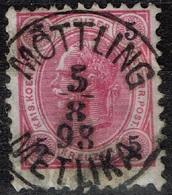Autriche - 1890 - Y&T 49 - MI 53, Oblitéré Möttling - Metuka - Oblitérés