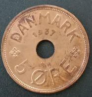 DANEMARK - DENMARK - 5 ORE 1937 - Christian X - KM 828.2 - Danemark