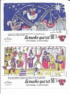 LOT 10 BUVARDS - LA VACHE QUI RIT - SERIE N° 9 - LES FORAINS   - DESSIN DE CORINE BAILLE   - TIMBRE N° 110 PREO - Food