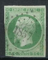 N°12  NUANCE ET OBLITERATION25 - 1853-1860 Napoléon III.