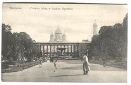 WARSZAWA Glowna Aleja W Saskim Ogrodzie Street Life C. 1920 - Polen