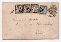 - Carte Postale OYRON (Deux-Sèvres) Pour PARIS 7.8.1903 - Taxée 8 C. Type Duval - A ETUDIER - - Taxes