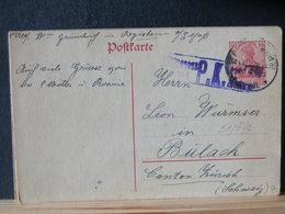 51/572 CP ALLEMAGNE/GERMANY  GERMANIA  POUR LA SUISSE P.K.  1918 - Germany