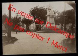Statue Miguel De Cervantes La Havane Havana / Ouragan De Cuba De 1910 ? Photo Ancienne Albuminée  7,5X11 Cm Env - Cuba