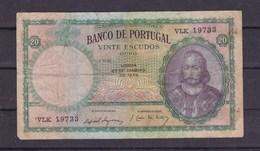 Portugal. 20 Escudos. 27/01/1959 - Portugal