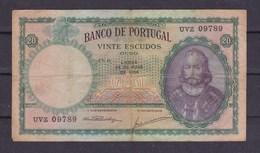 Portugal. 20 Escudos. 25/05/1954 - Portugal