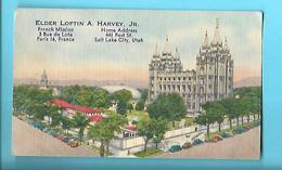 RELIGION---ARTICLES DE FOI---ELDER LOFTIN A. HARVEY, Jr--PARIS 16è--SALT LAKE CITY, UTAH--voir 2 Scans - Religion & Esotérisme