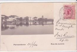 CPA Old Pc Bresil Brasil Pernambuco Recife Rua Da Aurora Photo - Recife