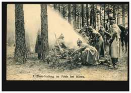 AK Artillerie-Stellung Im Felde Bei Mlawa, MLAWA 24.12.1915 Mit Passendem BS - Militaria