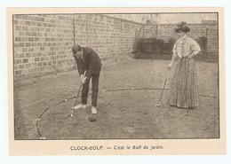 COUPURE De PRESSE SPORT DÉBUT XX ème SIECLE ANNÉE 1908 - CLOCK GOLF - GOLF De JARDIN - Golf