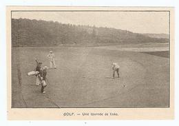 COUPURE De PRESSE SPORT DÉBUT XX ème SIECLE ANNÉE 1908 - GOLF UNE TOURNÉE De LINKS - Golf