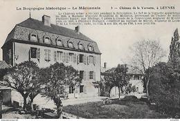 Leynes. La Facade Et Le Jardin Du Chateau De Vernette. - Andere Gemeenten