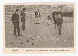 COUPURE De PRESSE SPORT DÉBUT XX ème SIECLE ANNÉE 1908 - PÉTANQUE COCHONNET FEMMES HOMMES MEN WOMEN - Bowls - Pétanque