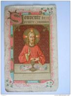 Communion 1898 Gand Raymond Bouckaert  Image Pieuse Holy Card Santini Lith St Augustin Licht Beschadigd - Images Religieuses