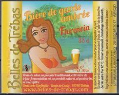 Etiquette (label) De Biere Française  ( Beer, Cerveza, Birra, Bier);Micro-Brasserie Belle Des Trébas 81 - Bière