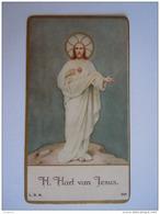 H. Hart Van Jezus Sacre Coeur Image Pieuse Holy Card Santini L.B.M. 206 - Images Religieuses