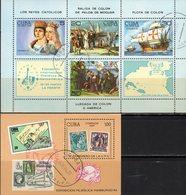 Columbus Flotte Cuba Blocks 86C+83 O 11€ Entdeckung Amerika Expo UPU 1984 Hoja Blocs FIP Sheets Bf Ships Philatelic - Philatelic Exhibitions