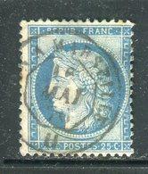 Superbe N° 60 Cachet à Date Ambulant  De Jour Paris à Marseille - 1871-1875 Ceres