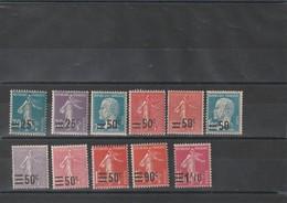 1926 - 1927 Timbre De France Surchargés N°217 à 228 Neuf** - Unused Stamps