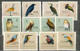POLAND MNH ** 1070-1081 OISEAUX AIGLE CIGOGNE CORBEAU CORMORAN MERLE MARTIN PECHEUR Rapace Oiseau Bird - Unused Stamps