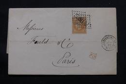 FRANCE - Lettre De Constantinople Pour Paris En 1870, Affranchissement Napoléon 40ct, GC 5083  - L 57332 - 1849-1876: Periodo Clásico