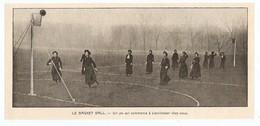 COUPURE De PRESSE SPORT DÉBUT XX ème SIECLE ANNÉE 1908 - BASKET BALL FÉMININ FEMMES WOMEN - Sport