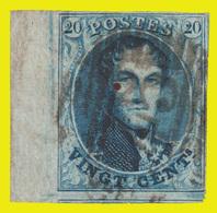 COB N° 11 - Très Bien Margé + 1 Voisin En Bas - Grand Bord De Feuille à Gauche - P. 45 - 14 Barres (GAND) - 1858-1862 Medallions (9/12)
