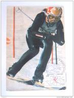 France 1972 Michele Jacot Cachet  Jeux Olympiques D'Hiver Saporro Premier Jour Paris Yv 1705 - Winter Sports