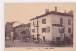 Sousceyrac L Hotel Prunet Station Service Pompe A Essence Vieilles Voitures - Sousceyrac