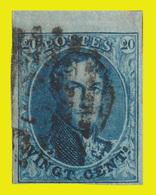 COB N° 11 - Très Bien Margé - Grand Bord De Feuille En Haut. - 1858-1862 Medallions (9/12)