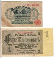 1 Mark 1914 +  1  Mark 1937   LOTTO 1927 - [ 3] 1918-1933 : Repubblica  Di Weimar