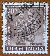 1967 INDIA  Artigianato Simboli Del Paese Handicrafts - 30p Usato - Usati