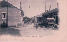 France 01, Divonne Les Bains, Diligence Et Vélos Place Des Quatre Vents, Attelage (1064) - Divonne Les Bains