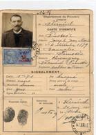 1941 Carte D'identité Mairie De Kernével En Finistère - Marcophilie (Lettres)