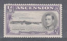 ASCENSION 1938 1/2d BLACK VIOLET SG 38 D.13 1/2  MLH - Ascension