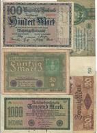 20 Mark 1914 +  50  Mark 1919 + 1933 + 100 + 1000 Mark 1922    LOTTO 1935 - [ 3] 1918-1933 : Repubblica  Di Weimar