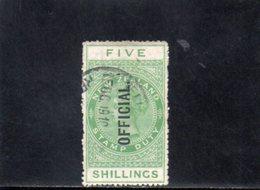 NOUVELLE ZELANDE 1911-5 O - Service