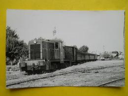 Photo Bazin ;gare ,trains ,tramways , Diesel En Gare D'Ares - Trains